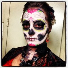 Halloween costume makeup, 2013. Sugar skull/ Día de Muertos