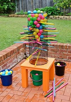 Make this fun backyard game to enjoy all summer!