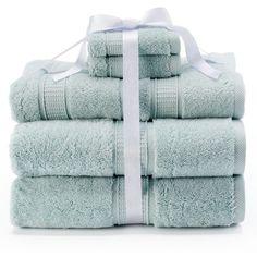 Kassatex Turkish Cotton 6-pc. Bath Towel Set, Green ($60) ❤ liked on Polyvore…