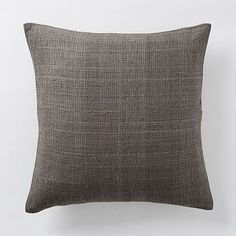 Silk Hand-Loomed Pillow Cover - Shale #westelm