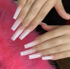 Ballerina nails designs classy colour 20 Ideas for 2019 Square Acrylic Nails, Pink Acrylic Nails, Square Nails, Claw Nails, Aycrlic Nails, Classy Nail Designs, Fire Nails, Ballerina Nails, Dream Nails