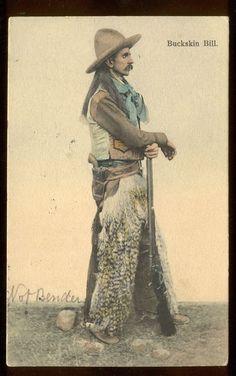 """Western Frontier Man """"Buckskin Bill"""" Cowboy 1905"""