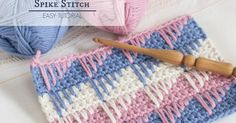 One of the many reasons I love the Spike Stitch is how versatile a stitch it is, meaning you can creating a variety of different textures and designs using this simple technique! This stitch looks great when featured in most crochet projects, such as hats, scarves and (especially) blankets!