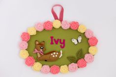 Personlized children's name plaque, door hanging. $58
