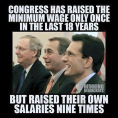 Raise the minimum wage so that millions of Americans can share in the wealth and fuel the economy through their spending. by kirkdarryl Bernie Sanders For President, Minimum Wage, Political Issues, Right Wing, Republican Party, Politicians, We The People, That Way, Things To Think About
