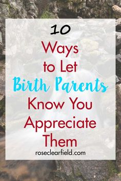 Taking the time to let birth parents know you appreciate them means the world to them, acknowledging and celebrating their role in the adopted child's life. Son Quotes, Daughter Quotes, Child Quotes, Family Quotes, Adoption Quotes, Adoption Gifts, Mothers Quotes To Children, Mothers Day Quotes, Biological Parents