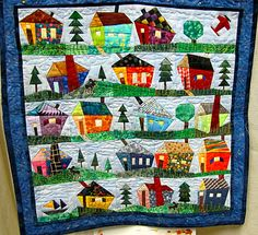 wonky house quilt #quilting