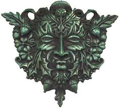 Moss covered ebony wood finish Greenman 12 [SG702] - $63.95 : Wicca, Pagan and Occult Practice Mega Store - www.thetarotoracle.com