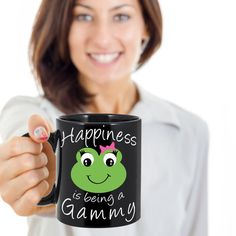 Gammy Coffee Mug - Happiness is being a Gammy - Gift Mug For Gammy, Great…