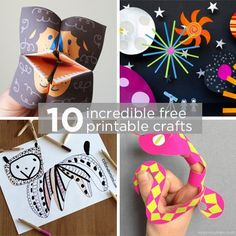Easy on the wallet paper crafts you print up on your own computer. They are FREE! 10 Incredible Free Printable Crafts