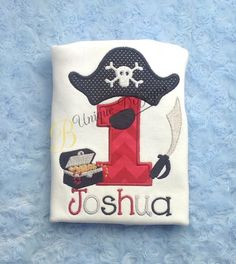 Hey, I found this really awesome Etsy listing at https://www.etsy.com/listing/216396818/pirate-1st-birthday-shirt-pirate