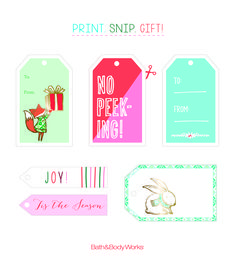 Print, snip and gift these festive little gift tags! #BBWPerfectChristmas