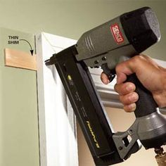 Shim Behind the Miter - If there's a slight gap between the molding and the wall, don't press the trim tight to the wall and nail it Home Improvement Projects, Home Projects, Trim Carpentry, Ideas Prácticas, Craft Ideas, Moldings And Trim, Crown Molding, Moulding, Shoe Molding