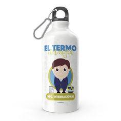 Termo - El termo del mejor negociador, encuentra este producto en nuestra tienda online y personalízalo con un nombre. Water Bottle, Drinks, Carton Box, Store, Crates, Drinking, Beverages, Water Bottles, Drink