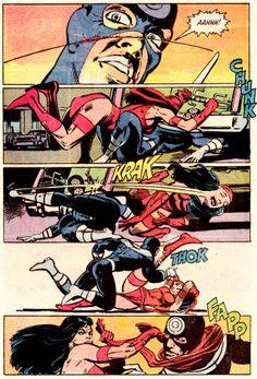 Elektra vs. Bullseye Daredevil #181 (April 1982) Art by Frank Miller & Klaus Janson Words by Frank Miller