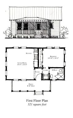 Weighing in at 521 square feet, this southern cottage design is a favorite . are the norm for designer . One bedroom and one bathroom compliment a generous living area. This plan can easily be that . Cheap Greenhouse, Greenhouse Ideas, Indoor Greenhouse, Small House Floor Plans, Cottage Plan, Cabins And Cottages, Tiny House Living, Cabin Plans, Little Houses