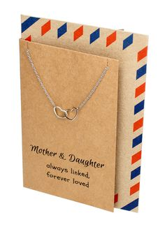 Stella Mother & Daughter Necklace with Two Interlinked Hearts Pendant, - Quan Jewelry - 7