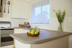Before and After Kitchen Makeover l DIY Concrete Countertop l Kitchen bench makeover STYLE CURATOR #Ardex