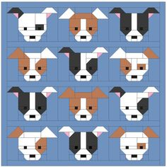 Dog Quilt Pattern PDF Instant Download modern von SewFreshQuilts