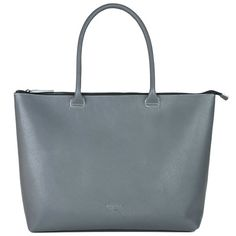 Daame Leather Laptop Tote Gray