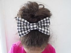 Black & White plaid bow barrette Plaid bow by OneOfferJewelry