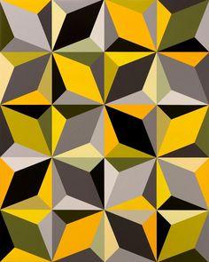 Hard Edge Painting, Diy Wall Painting, Watercolor Night Sky, Blue Mosaic Tile, Geometric Painting, Geometric Artwork, Mickey Mouse Art, Visual Communication Design, Polygon Art