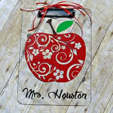 Personalized Teacher Clipboard Gift for Teacher by CaffeineAndWine