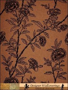 Roseberry Flock wallpaper from Cole & Son Flock Wallpaper, Velvet Wallpaper, Print Wallpaper, Cole And Son, Coordinating Fabrics, Furniture Restoration, Flocking, Vintage World Maps, Retro