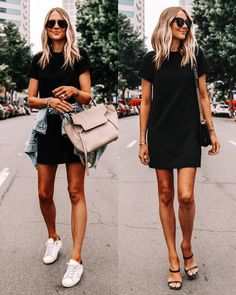 Amy Jackson, Black Dress Outfits, Dressy Outfits, Dress Black, Classy Dress, Dress Casual, Little Black Dresses, Casual Black Dress Outfit, Black Sandals Outfit