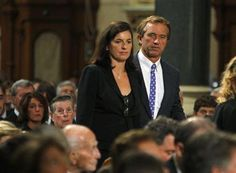Mary and Robert Kennedy Jr. arriving at the funeral of Edward Kennedy in 2009.