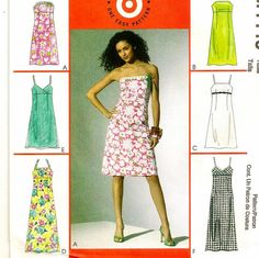 A Strapless or Spaghetti Strap Short or Long Dress Pattern by SoSewSome on Etsy, $3.75