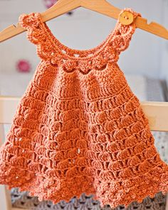 Crochet dress PATTERN - Bell Dress (sizes up to 6 years) (English only) Crochet Shrug Pattern, Crochet Romper, Crochet Baby Sandals, Romper Pattern, Crochet Patterns, Booties Crochet, Crochet Girls, Crochet Dresses, Baby Booties