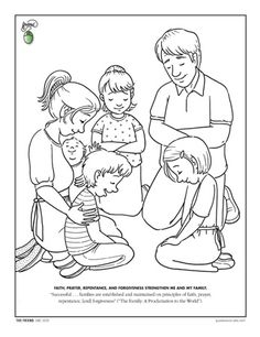 First Commandment Clip Art Coloring Page Based On Christ With Lds Coloring Pages