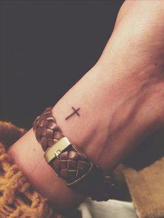 Tattoos - Mini Tattoos,Back Tattoos-My tiny cross tattoo Mini Tattoos, Little Tattoos, Trendy Tattoos, Body Art Tattoos, Tatoos, Bow Tattoos, Butterfly Tattoos, Feather Tattoos, Tribal Tattoos