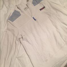 Long sleeve seersucker shep shirt Very cute pullover, white and seersucker blue. Limited edition summer shep shirt. Vineyard Vines Sweaters