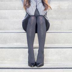 596a6f6fd6 RejuvaHealth Opaque Black Diamond Pantyhose   Fashionable 15-20 mmHg  graduated compression stockings by REJUVA