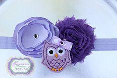 Precious Lavender Owl Headband by PMDBoutique on Etsy, $10.00