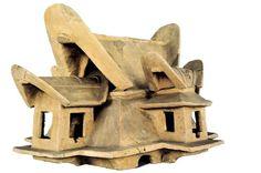 -93- Haniwa model house -Late Tumulus period 5th-6th century A.D. Terracota H 52.2cm  (National Museum Tokyo)