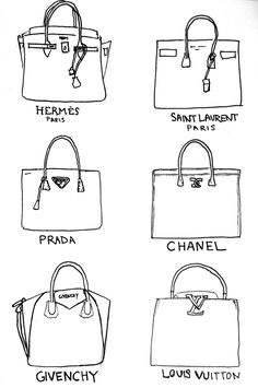 Hermes // Saint Laurent // Prada // Chanel // Givenchy // Louis Vuitton // These are a few of my favorite things