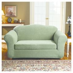 Loveseat Slipcover Sure Fit Sage (Green)