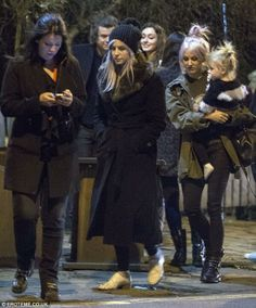 Harry, Lou, Lux, Gemma and Anne out to dinner celebrating Harry's birthday.