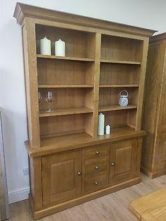 Northumbria SOLID OAK DRESSER Highboard Cupboard Bookcase - Fully Assembled