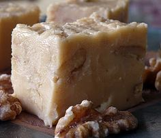 White Chocolate Walnut Fudge...please, let this be like See's Candy's Vanilla Walnut fudge!