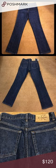 Calvin Klein Bootleg Jeans Calvin Klein jeans bootleg cut size 7. 100% cotton. Machine wash warm inside out. 32 inch inseam. Calvin Klein Jeans Boot Cut