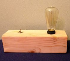 Edison Lamp with 2 USB Charging Ports and 3 by ReynoldsProjects, $99.00