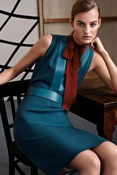 Gucci, pre-autumn-winter 2015  Wonderful winter colour, love the leather in that colour too http://www.sewingavenue.com/