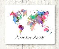 国内即発 世界地図 ワールドマップデザイン ポスター A4サイズ