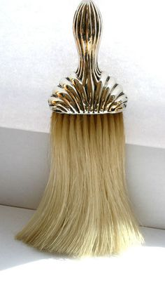 Victorian Solid Silver Handled Top Hat Brush 1891