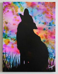 Calling The Ancestors Howling Wolf Painting by Raventalker | eBay
