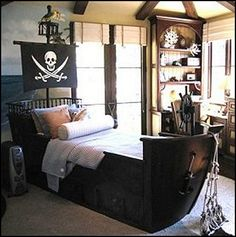 Decorating theme bedrooms - Maries Manor: pirate bedrooms - pirate themed furniture - nautical theme decorating ideas